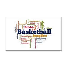 Basketball Word Cloud Rectangle Car Magnet