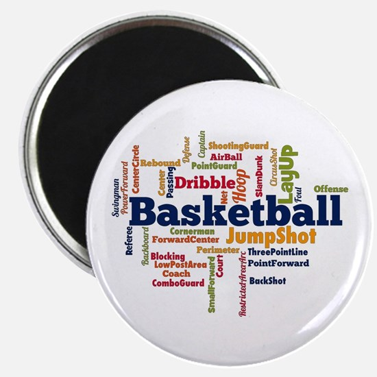 Basketball Word Cloud Magnets