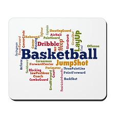 Basketball Word Cloud Mousepad