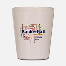 Basketball Word Cloud Shot Glass
