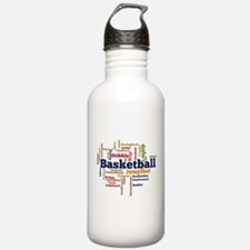Basketball Word Cloud Water Bottle