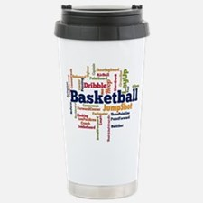 Basketball Word Cloud Travel Mug