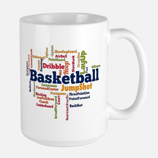 Basketball Word Cloud Mugs
