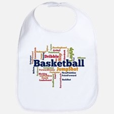 Basketball Word Cloud Bib