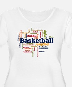 Basketball Word Cloud Plus Size T-Shirt