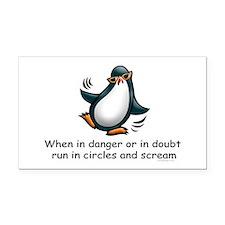 Screaming Penguin Rectangle Car Magnet