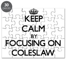 Keep Calm by focusing on Coleslaw Puzzle