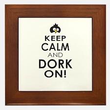 Penguin Keep Calm and Dork On Framed Tile