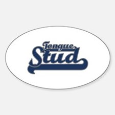 Tongue Stud Oval Decal
