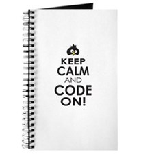 Penguin Keep Calm and Code On Journal
