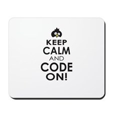 Penguin Keep Calm and Code On Mousepad