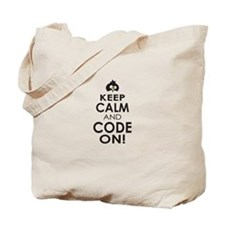 Penguin Keep Calm and Code On Tote Bag