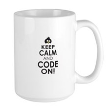 Penguin Keep Calm and Code On Mugs