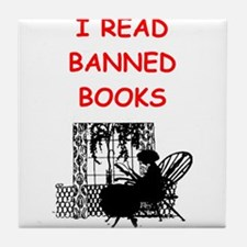 banned books Tile Coaster