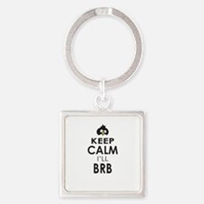 Penguin Keep Calm and BRB Keychains