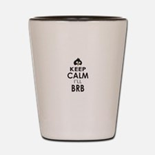 Penguin Keep Calm and BRB Shot Glass