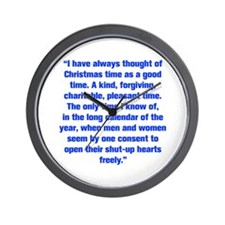 I have always thought of Christmas time as a good