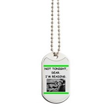 book lover Dog Tags