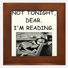 book lover Framed Tile