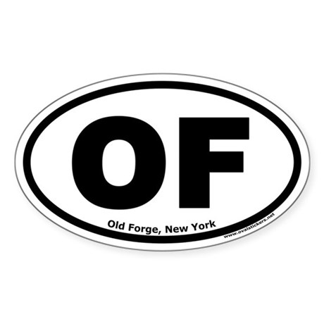 """Old Forge, New York """"OF"""" Oval Sticker"""