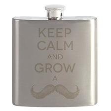 Keep calm and grow a mustache Flask