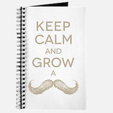 Keep calm and grow a mustache Journal