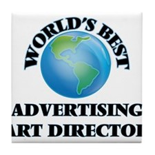 World's Best Advertising Art Director Tile Coaster