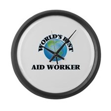 World's Best Aid Worker Large Wall Clock