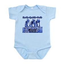 See-Speak-Hear-No EVIL Blue 2 Infant Bodysuit