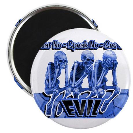 See-Speak-Hear-No EVIL Blue 2 Magnet