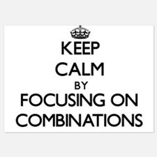 Keep Calm by focusing on Combinations Invitations