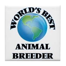 World's Best Animal Breeder Tile Coaster