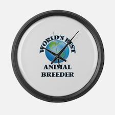 World's Best Animal Breeder Large Wall Clock