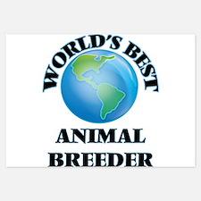 World's Best Animal Breeder Invitations