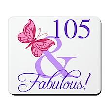 Fabulous 105th Birthday Mousepad