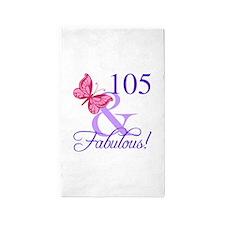 Fabulous 105th Birthday 3'x5' Area Rug
