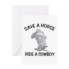 SAVE A HORSE Greeting Cards