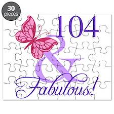 Fabulous 104th Birthday Puzzle