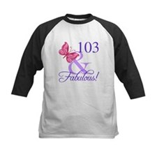 Fabulous 103th Birthday Baseball Jersey