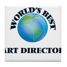 World's Best Art Director Tile Coaster
