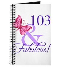 Fabulous 103th Birthday Journal