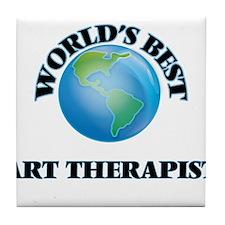 World's Best Art Therapist Tile Coaster