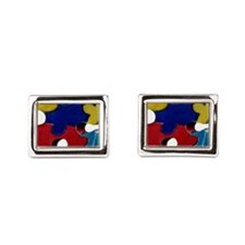 Autism Puzzle Piece Rectangular Cufflinks