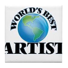 World's Best Artist Tile Coaster