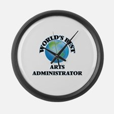 World's Best Arts Administrator Large Wall Clock