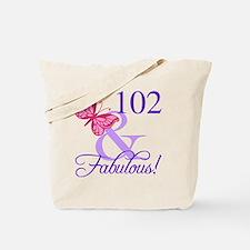 Fabulous 102th Birthday Tote Bag