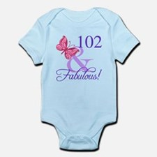 Fabulous 102th Birthday Body Suit