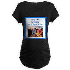 new york Maternity T-Shirt