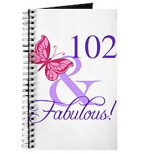 Fabulous 102th Birthday Journal