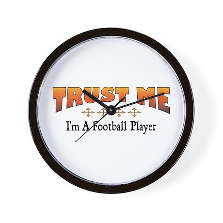 Trust Football Player Wall Clock